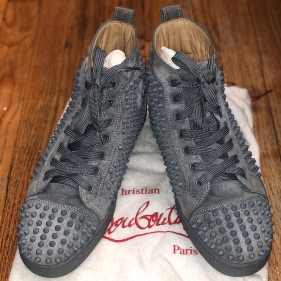 CHRISTIAN LOUBOUTIN Louis Flat Suede Sneakers